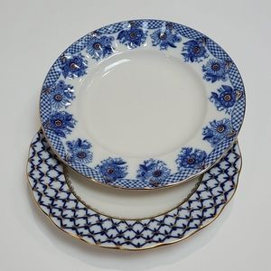 Lomonosov Russian China Desert Plates